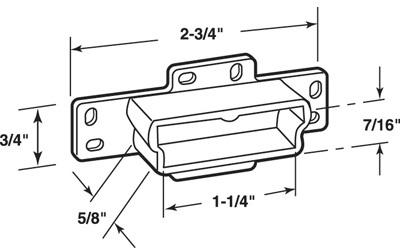 R7133 DRAWER TRACK BACKPLATE