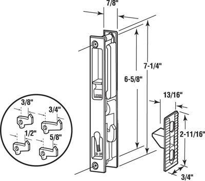 C1045 CH GLASS DOOR LATCH/PULL