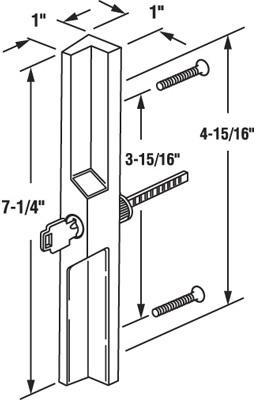 C1041 SLIDE GLS DR LOCK PULL