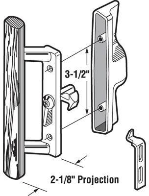 C1095 3.5 IN. PATIO DOOR HDL ASSY