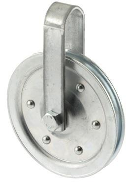 3 In. W/Strap & Bolt Pulley