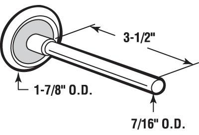 Sash Balance Repair Kit P 3530 together with Garagedoorsizesandmeasurements together with Pin Cap Guide 14 Id Nylon Replacement 25 Pack P 2956 also Bushings And Guide Pin Caps C 164 also Bracket Pivot Top Or Bottom P 2706. on 1 2 garage door rollers replacement