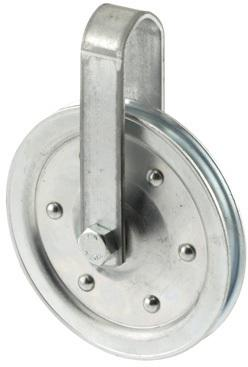 4 In. W/Strap & Bolt Pulley