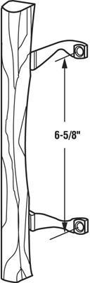 C1034 PATIO DOOR HANDLE WOOD