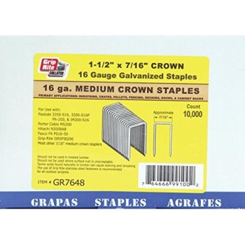 GR7648 7/16X1-1/2 IN. EG STAPLE