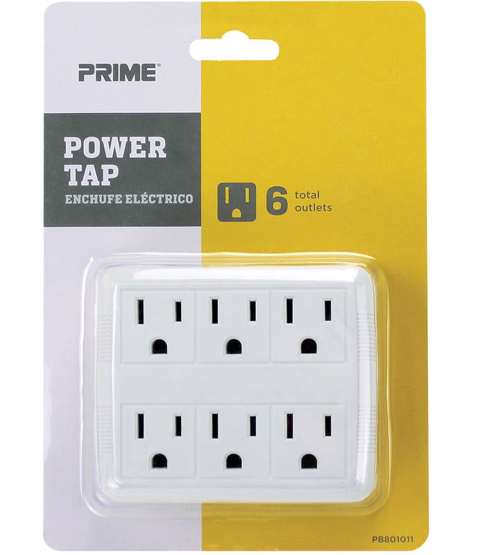 PB801011 6 OUTLET POWER TAP
