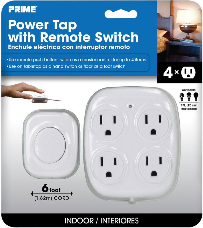 PBFSTAP 4 OUTLET TAP W/REMOTE