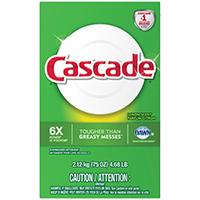 Procter & Gamble Cascade Dishwasher Detergent, Lemon Scent, 75 oz (2.12 kg) 4.68 lb
