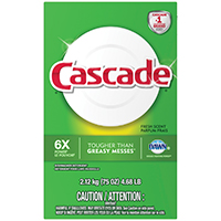 Cascade 34036 Automatic Dishwasher Detergent, 75 oz , White Powder