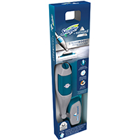Swiffer 85823 Ready-to-Use Steamboost Mop Starter Kit, Blue/Gray