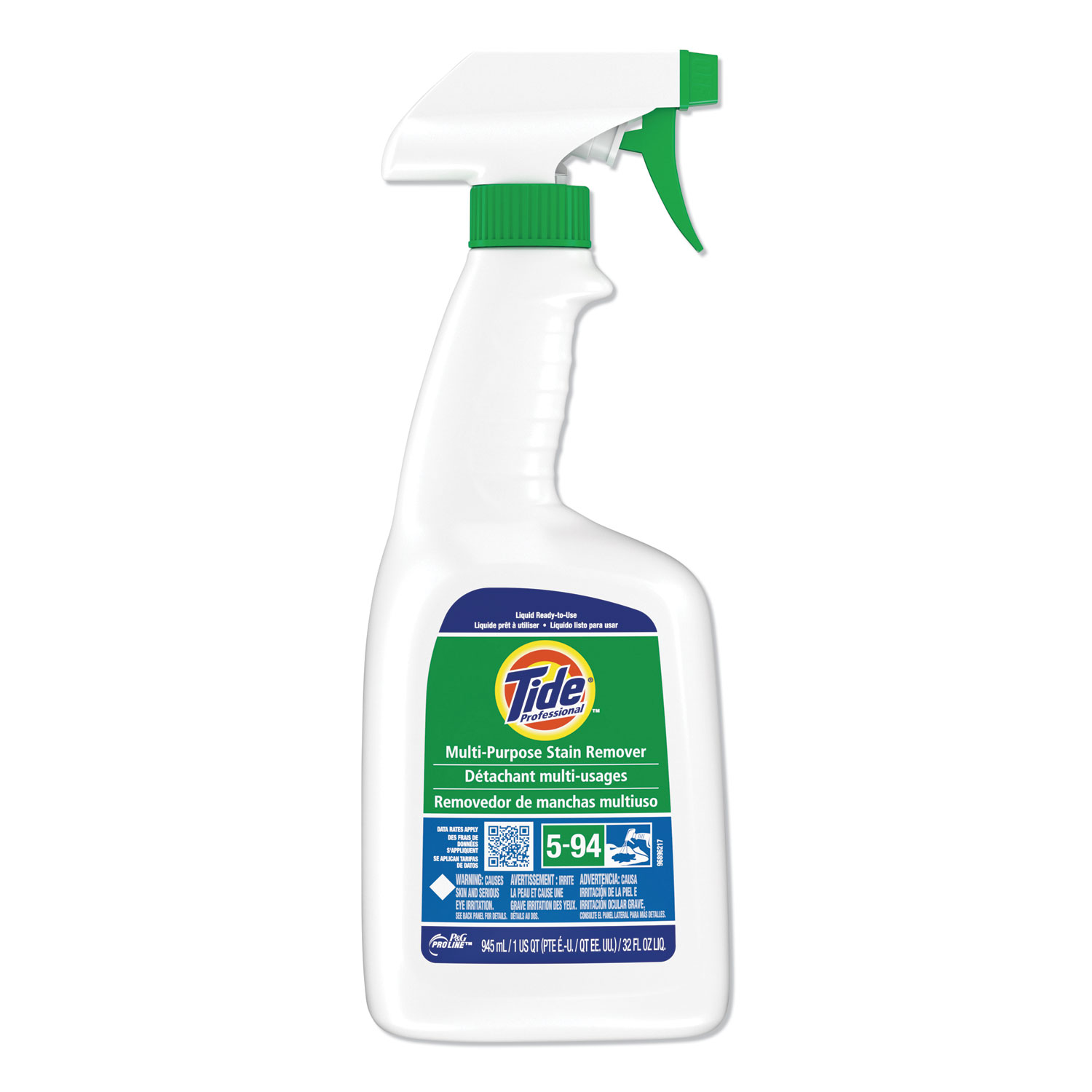 Multi Purpose Stain Remover, 32 oz Trigger Spray Bottle, 9/Carton