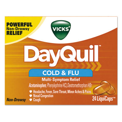 DayQuil Cold & Flu LiquiCaps, 24/Box