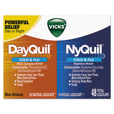 DayQuil/NyQuil Cold & Flu LiquiCaps Combo Pack, 32 Day/16 Night