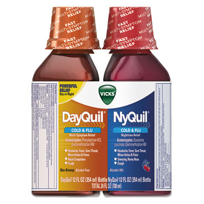 DayQuil/NyQuil Cold & Flu Liquid Combo Pack, 12 oz Day, 12 oz Night
