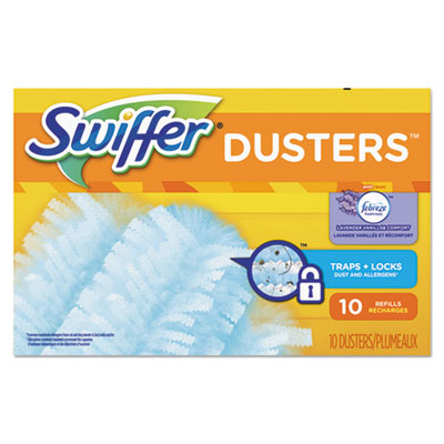 Refill Dusters, Dust Lock Fiber, Light Blue, Lavender Vanilla Scent, 10/Box