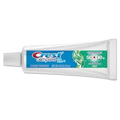 Complete Whitening Toothpaste + Scope, Minty Fresh, 0.85 oz Tube, 72/Carton