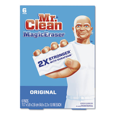 Magic Eraser, 2 3/10 x 4 3/5 x 1, White, 6/Pack, 6 Pack/Carton