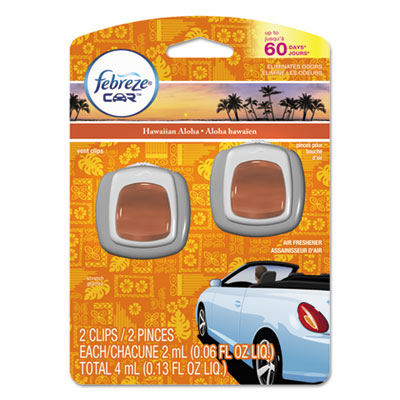Car Vent Clips, Hawaiian Aloha, 2 ml Clip, 2/Pack