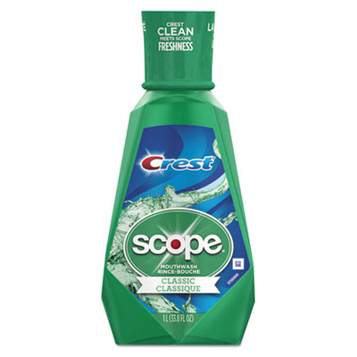 Crest + Scope Mouth Rinse, Classic Mint, 1 L Bottle