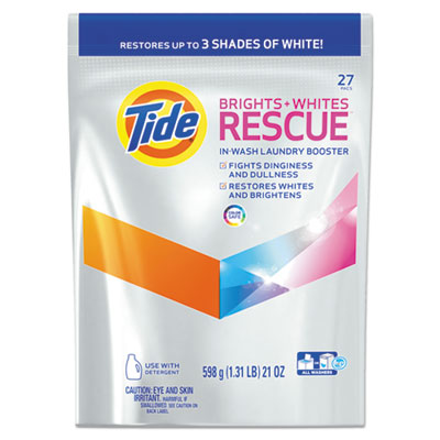 Brights + Whites Rescue In-Wash Laundry Booster Pacs, 27 Pac/Bag, 4 Bag/CT