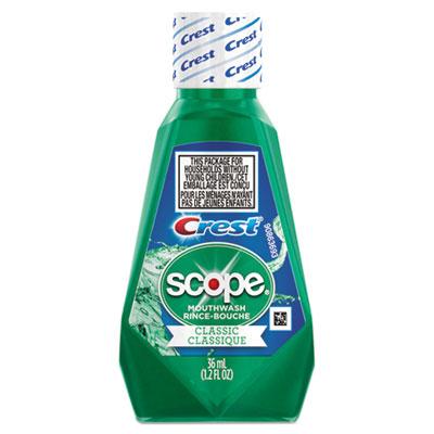 Crest + Scope Rinse, Classic Mint, 36 mL Bottle, 180/Carton
