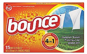 95860 15PK BOUNCE DRYER SHEET