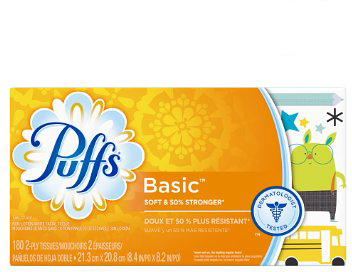 87611 PUFFS FAMILY TISSUES