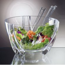 PRODYNE SB3C ILLUSIONS SALAD BOWL SERVERS 6QT SHATTERPROOF