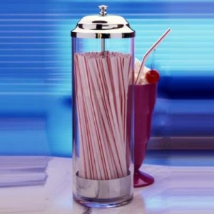 PRODYNE F36 ACRYLIC STRAW DISPENSER WITH 36 STRAWS JUST LIFT