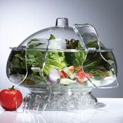 PRODYNE AB3D SALAD ON ICE ACRYLIC WITH DOME LID CRYSTAL CLEAR