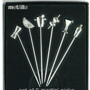 PRODYNE MP9 SET OF 6 STAINLESS STEEL MARTINI PICKS WITH