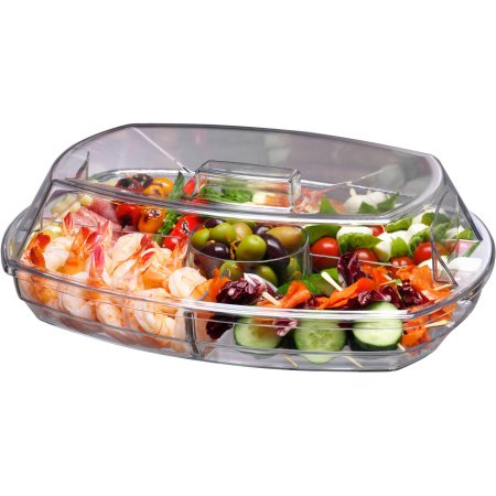 PRODYNE SB5 FLIP LID APPETIZERS ON ICE TRAY WITH DUAL PURPOSE