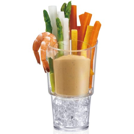 PRODYNE SD4 VEGGIE STICKS & DIP ON ICE SET OF 4 SERVERS EACH