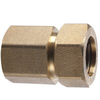 Pro-Flex PFFN-1212 Tube To Pipe Adapter, 1/2 in, CSST X FNPT, Brass