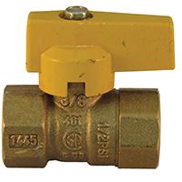 Pro-Flex PFGV-F38B Gas Valves, 3/8 x 3/8 Inch