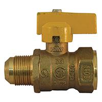 Pro-Flex PFGV-FFL3458B Gas Valves, 3/4 x5/8 Inch