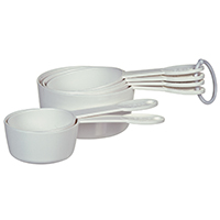 Progressive BA-3518 Measuring Cup Set, 6 Pieces, ABS/Polypropylene, White