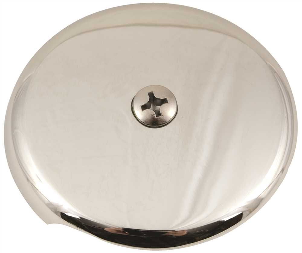 1-HOLE BATHTUB FACEPLATE WITH BOLTS, CHROME-PLATED