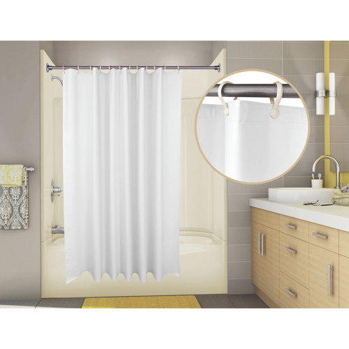 PROPLUS SUPERSUEDE VINYL SHOWER CURTAIN, 6 FT. X 6 FT., WHITE