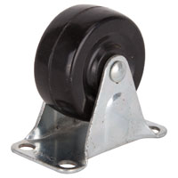CASTER RIGID 2IN RUBBER