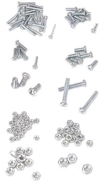 Mintcraft JL821033L Bolt/Nut Set, 100 Pieces