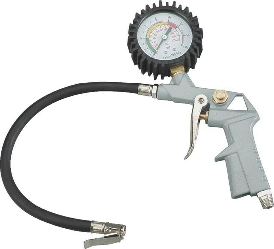 Mintcraft Tire Inflator Gauge, For Use With Single Clip-On Connector, Die Cast