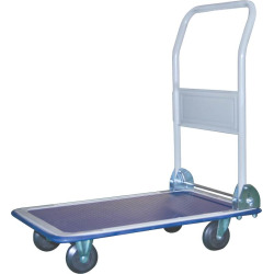 Vulcan PH1501 Folding Small Platform Cart, 330 lb, 4 Wheels, 4 in Pneumatic, Rear Swivel Wheel, Steel/Rubber