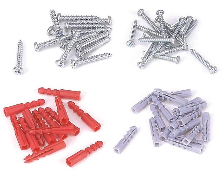 Mintcraft JL821083L Screw/Anchor Set, 60 Pieces