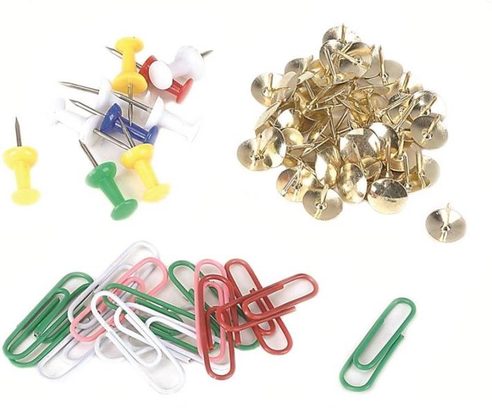 Mintcraft JL82110 Tack/Pushpin/Clip Set, 75 Pieces