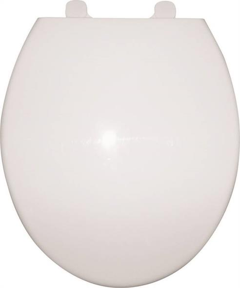Prosource Q-328-WH Toilet Seat, For Use With Round Bowls, Polypropylene