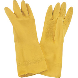 GLOVE LATEX YELLOW 1 PAIR/1 SZ