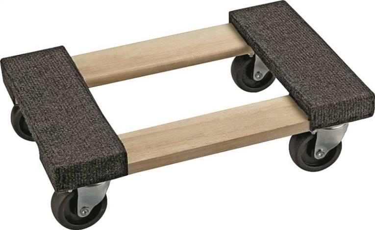 Prosource FD-1812 Furniture Dolly, 800 lb 18 in L x 12 in W x 5 in H, Hardwood