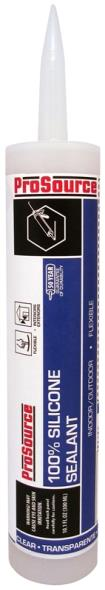 Mintcraft Professional Choice 50 Year Silicone Rubber Sealant, 10.1 oz, Cartridge, Clear, Paste