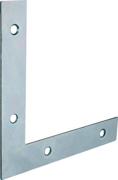 Mintcraft FC-Z04-013L Flat Corner Brace, 4 in L x 5/8 in W, Zinc Plated